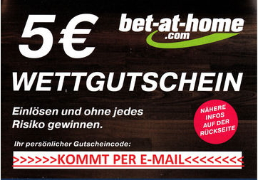 Bet At Home 5 Euro Gutschein Bestandskunden